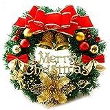 AcserGery Weihnachtskranz mit Kugel, Schleife, Weihnachten Dekor