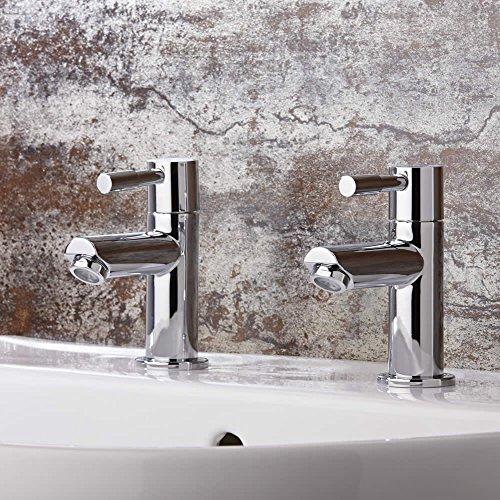 hudson-reed-coppia-di-rubinetti-a-leva-per-lavabo-in-ottone-cromato-design-moderno-paio-di-rubinetti