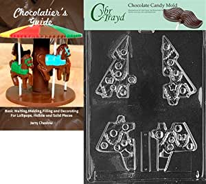 Cybrtrayd Life of the Party C109 Waving Santa Lolly  Chocolate Candy Mold in Sealed Protective Poly Bag Imprinted with Copyrighted Cybrtrayd Molding Instructions