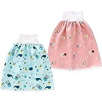 Happy Cherry 2 pcs Jupe Apprentissage Propreté Bébé Culottes d'apprentissage Lavable Short à Jupe pour Enfant Jupe de…