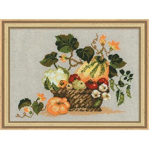 """Riolis 1076 Kreuzstich-Set """"Früchte des Herbstes"""", Baumwolle, Mehrfarbig, 40 x 30 x 0.1 cm"""
