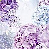 Artland Qualitätsbilder I Wandbilder Selbstklebende Wandfolie 60 x 60 cm Botanik Blumen Hortensie Collage Blau C7QS Blau und Pink Hortensie- Blütentraum im Sommer
