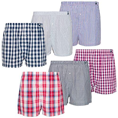 Maat Mons Herren Boxershorts im 6er Pack | Bequeme Herrenunterwäsche Männer Unterhosen aus Baumwolle | Karierte Unterwäsche | Größe XXL
