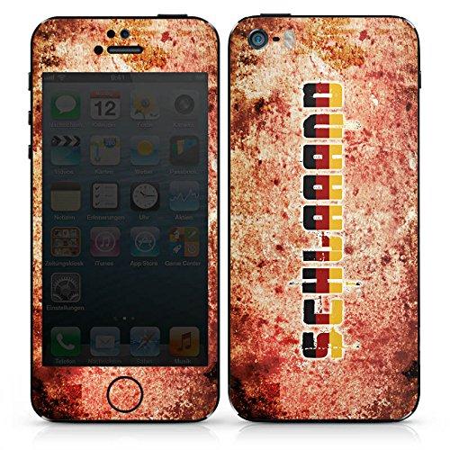 Apple iPhone 4s Case Skin Sticker aus Vinyl-Folie Aufkleber Deutschland Fußball Germany DesignSkins® glänzend