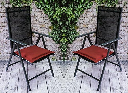 Bankauflage Auflage Sitzauflage Gartenbank Polster Kissen Stuhlkissen Bootkissen Sitzkissen Gartenkissen Wasserabweisend 14 Verschiedene Modelle (Porto Cast Kissen. Rot (Rostfarbe)...