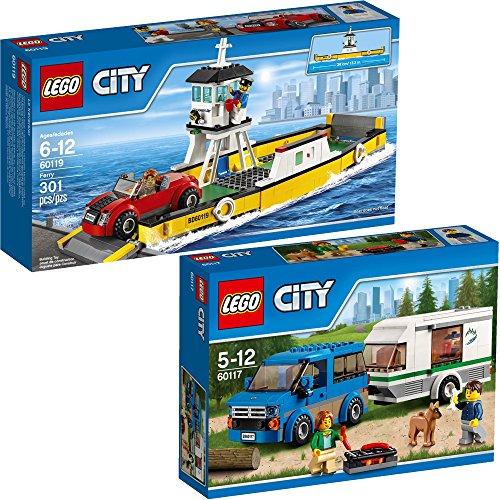 Preisvergleich Produktbild Lego City 2er Set 60117 60119 Van & Wohnwagen + Fähre