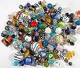 1 Kilo POSTEN PERLEN Glas GLASPERLEN Beads Fancy SILBERFOLIE Mix LAMPWORK