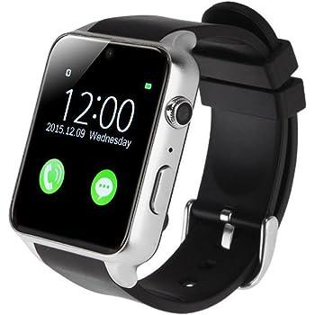 AGPtEK GT88 Bluetooth 4.0 Reloj Inteligente con 2.0M Cámara, TF/GSM SIM Ranura con Podómetro Función Anti-perdida GPS para running para iPhone Huawei ...