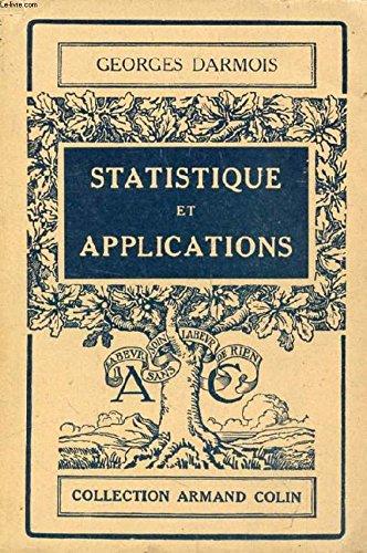 Statistique et applications - n° 174, dans la série Section de Mathématiques par Darmois (Georges)