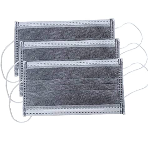 ZISIZ 4 Lagen Vliesstoff aus Schmelzgeblasenem Stoff 50 St/ück Grau