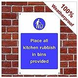 Küche Müll Schild foo14 PVC-Aufkleber (Vinyl) A5 150mm x 200mm (approx 6