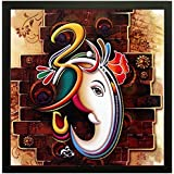 Paper Plane Design Exclusive Framed Wall Art Paintings Of Om Ganesha For Living Room Bedroom And Decoration Purpose Frame Size (12 Inch X 12 Inch, (Synthetic, 30 Cm X 3 Cm X 30 Cm, Special Effect Textured)