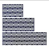 sheng Indeedshare Kitchen Rugs Rubber Backing Decorative Non-Slip Doormat Runner Area Entrance Mats Sets 3 Pieces ( Color : 2 )