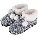Rojeam Familia Zapatillas Lindas Invierno Cálido Casa Zapatos Botas Interior al Aire Libre para Unisex Hombres Mujeres Niños