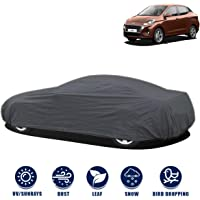 Kingsway Dust Proof Car Body Cover for Hyundai Aura (Model Year : 2020 Onwards) (Grey Matty, Triple Stitched)