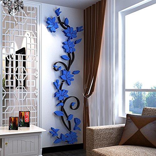 Vine Grafiken (attachmenttou 3DFlora entworfen Abnehmbar DIY Art Wandaufkleber Blumenhandwerk Living Bed Room Home Dekoration)