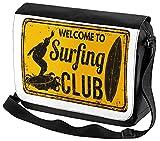 Bolso Bandolera Etiquetas Alerta Señales Prohibición Club de surf impreso