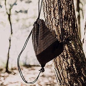 Turnbeutel Frida Bag 078 in Schwarz Tasche Beutel Rucksack Sportbeutel Gymsack Hipster Fashion Gym Bag - Handgemacht in Südtirol