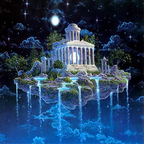 Oofficee Dekorative malerei Hut Diamant malerei würfel runde Diamant Cartoon Charakter kreuzstich 5d malerei dekorative malerei Hut 30 * 40 cm, 11,8 * 15,7 Zoll