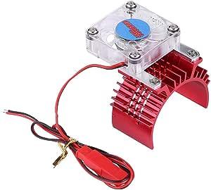 Dilwe Rc Auto Motor Kühlkörper 36mm 540 Motor Kühlkörper Mit Lüfter Für 1 10 1 8 Fernbedienung Auto Zubehör Rot Spielzeug