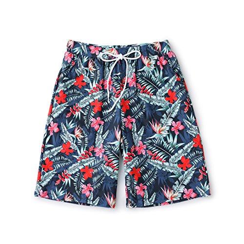 OME&QIUMEI Fast Dry Beach Pants Männer Lose Strand Grösse Liebhaber Spa Badehose Shorts L Hellblau (Jungen Sky Camo Blau)