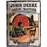 Nostalgic-Art 23167 John Deere - Farming Traditions, Blechschild 30x40 cm