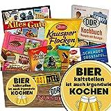 Bier kalt stellen ist auch irgendwie kochen | Ossi Produkte Schokolade | Schokoladen Geschenkset M | Argenta, Zetti, Maulwurf | Geschenkidee Geburtstag für Ihn Geburtstagsgeschenk Freund