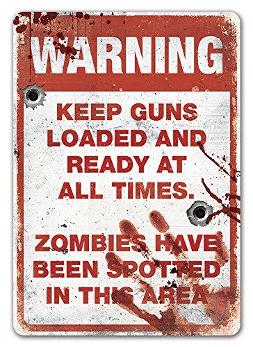 e–Metall Wandschild Aufschrift–Walking Dead Serie inspiriert Halloween ()