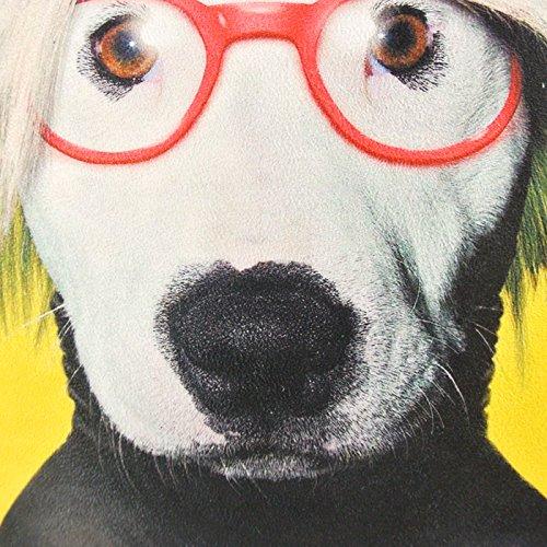 NAVA Yellow Funky Dog Pop Art Artist Decorative Pillowcase Cushion Cover