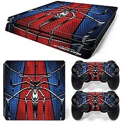 46 North Design Ps4 Slim Playstation 4 Slim Pegatinas De La Consola Superhero + 2 Pegatinas Del Controlador