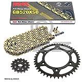 Kettensatz KTM EXC 525 Racing 03-07, Kette RK GB 520 XSO 118, offen, GOLD, 15/45