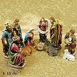 Set 11 Personaggi Nativita' Presepe Natale 30 Cm Giuseppe Maria Bambinello Gesu' Gt 552718