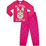 Pijama largo para niñas Drama Llama Niñas Rosa Pj 9-16 años