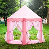 Opret Tienda de campaña para niños carpa princesa para niñas con luces juego de carpa casa de juegos rosa
