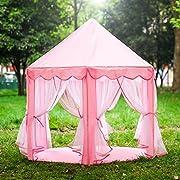 piccolo regno per la tua principessa:  con un bel design rosa, questa tenda è il castello fantasy per la tua piccola principessa che gioca, legge e si rilassa nel suo spazio privato. La tenda da gioco è grande enoug per le ragazze di avere u...