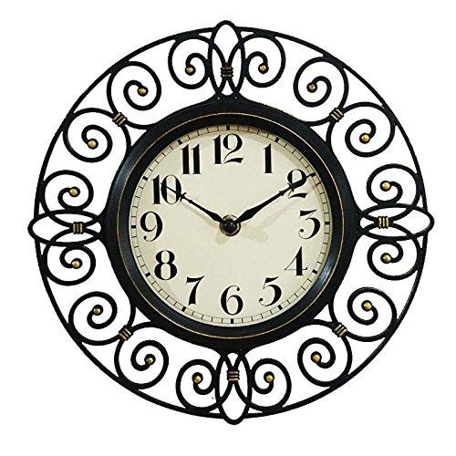 10 Pocket Wand (MEILING Pocket Watch hohlen Nachahmung Iron Art Silent Wanduhr Vintage Continental Wohnzimmer Schlafzimmer Taschenuhr ländlichen Uhr 10 Zoll)