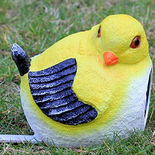 Solar Light Vogel Dekoration, Außen Glas Stahl-Skulptur-Garten-Dekoration, Garten Villa Landschaft Dekoration Crafts (Color : 1006, Quantity : 3PCS)
