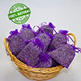 vom Achterhof 10 Bags of Lavender Filled With 200 g Fresh French Lavender Filled Lavender Flowers of Provence Food Grade. Great Fragrance Scented Sachets (Home & Garden)