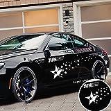 Erthome NEUF Racing Super Ciel étoilé Stickers pour voiture auto Sport Style Vinyle Voiture Autocollant de corps, blanc