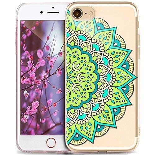 Coque iPhone 7 Plus Housse étui-Case Transparent Liquid Crystal Mandala en TPU Silicone Clair,Protection Ultra Mince Premium,Coque Prime pour iPhone 7 plus (2016)-style 7 style 1