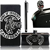 Search : Huawei P9 Lite Wallet Case, Vandot 3in1 Set Colorful Painting Pattern PU Leather Magnetic Closure Folio Flip Stand Practical Full-body Protective Cover+Black Cool Skull Anti Dust Plug+Screen Stylus Touch Pen-Pirate Black