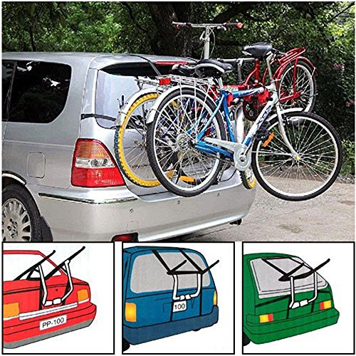 NEW 3 BIKE CYCLE CARRIER BIKE FOLDABLE RACK 6 CLAMPS CAR SALOON HATCHBACK