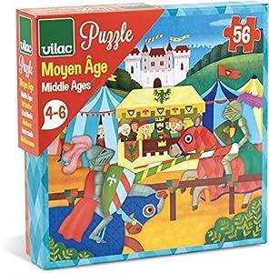 Vilac-Puzzle de cartón vilac2653Edad Media (56Piezas)