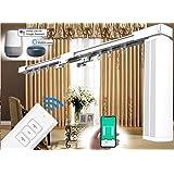 Afstandsbediening Elektrische gordijnrails - Alexa Smart Curtain System, Eenvoudig te bedienen door Voice/Mobiele apps/Afstan