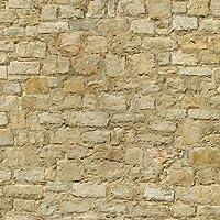 MyTinyWorld Pack of 5 Dolls House Weathered Yellow Stone Pattern Cladding Sheets