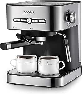 Aevobas Espresso Coffee Maker Machine with Milk Frother