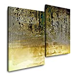 Sinus Art Abstraktes Bild 120x80cm 2 Kunstdrucke je 70x60cm Kunstdruck modern Wandbilder XXL Wanddekoration Design Wand Bild