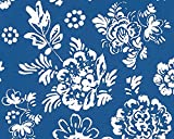 Oilily Home Vliestapete Oilily Atelier Tapete floral 10,05 m x 0,53 m blau weiß Made in Germany 302721 30272-1