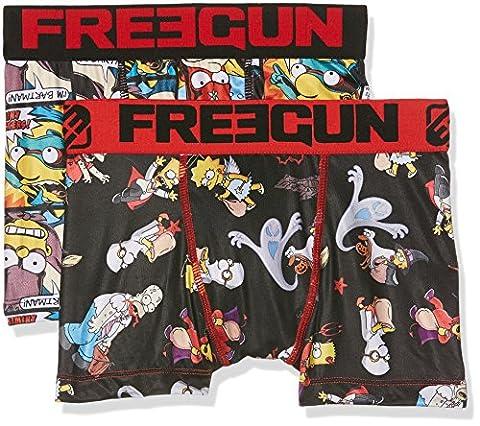 Freegun Simpsons Packx2, Boxer Garçon, Mehrfarbig (Multicolor A10), 152 cm