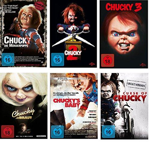deutsch, uncut, 1,2,3,4,5,6, Curse of, und seine Braut, Chuckys Baby I-VI, 6 dvds (Braut Von Chucky-maske)